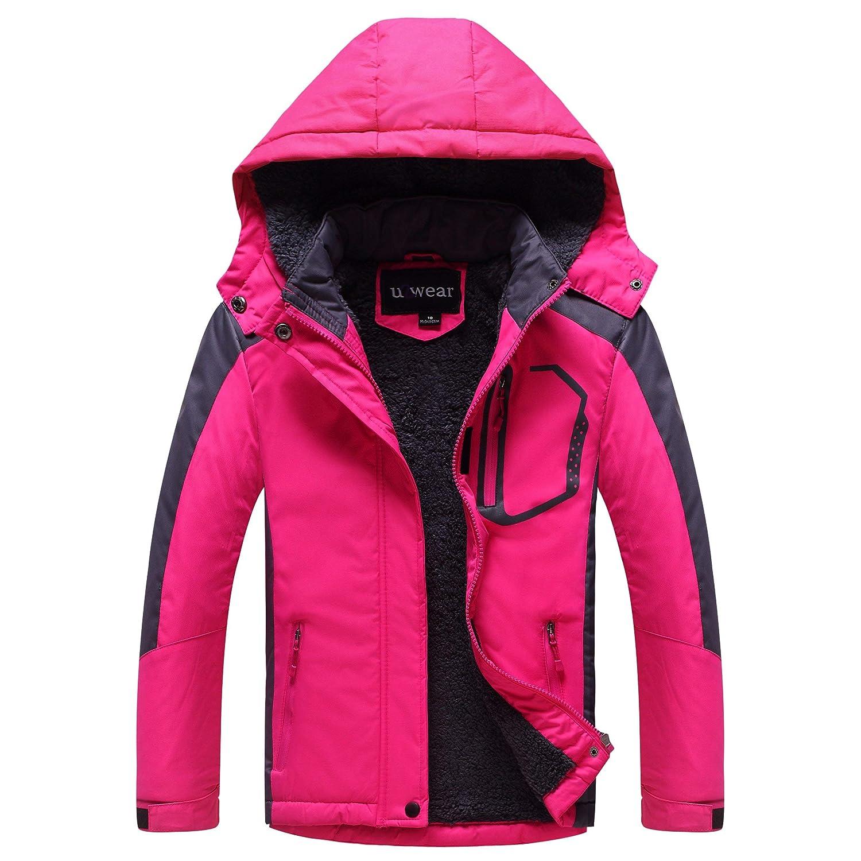 U2Wear GirlsSoftshell Jacket with Faux FurLining