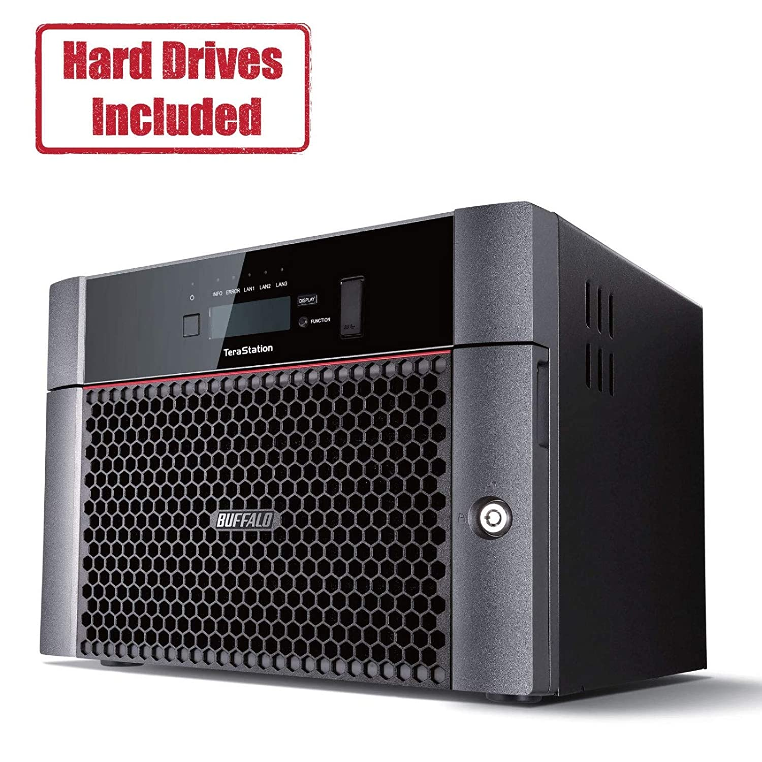 BUFFALO TeraStation 5810DN Desktop 32 TB NAS Hard Drives Included (4 X 8TB, 8 Bay)