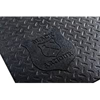 """Black Armour Heavy Duty Universal Contour Truck Bed Mat, 5' x 7' x 1/2"""", Fits Most Short Box and Crew cab beds, Checker…"""