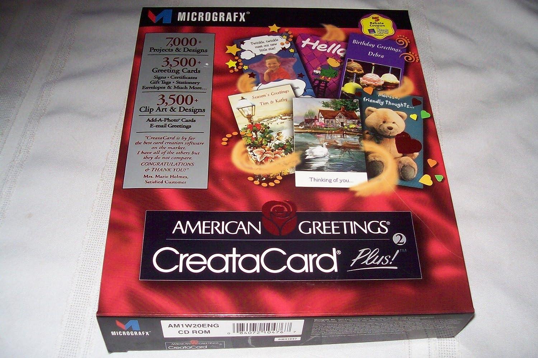 Amazon American Greetings Creatacard Plus Micrographx Cd Rom