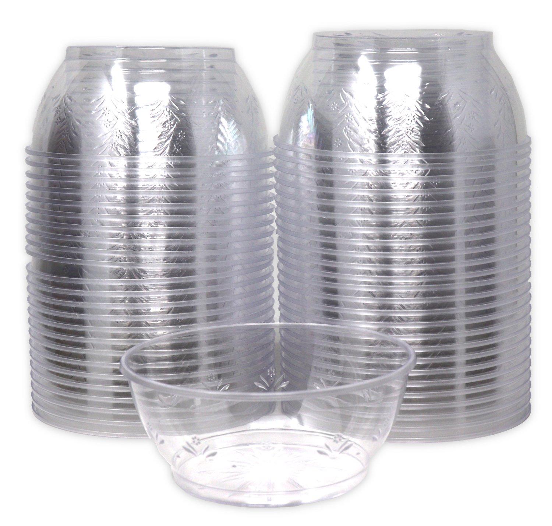 Bedwina Hard Clear Plastic Dessert Bowls 6 Ounce, (Bulk 100 Pack) Premium Quality by Bedwina (Image #1)