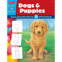 Dogs & Puppies:Step-by-step instructions for 25 different dog breeds (Learn to Draw) (English Edition)