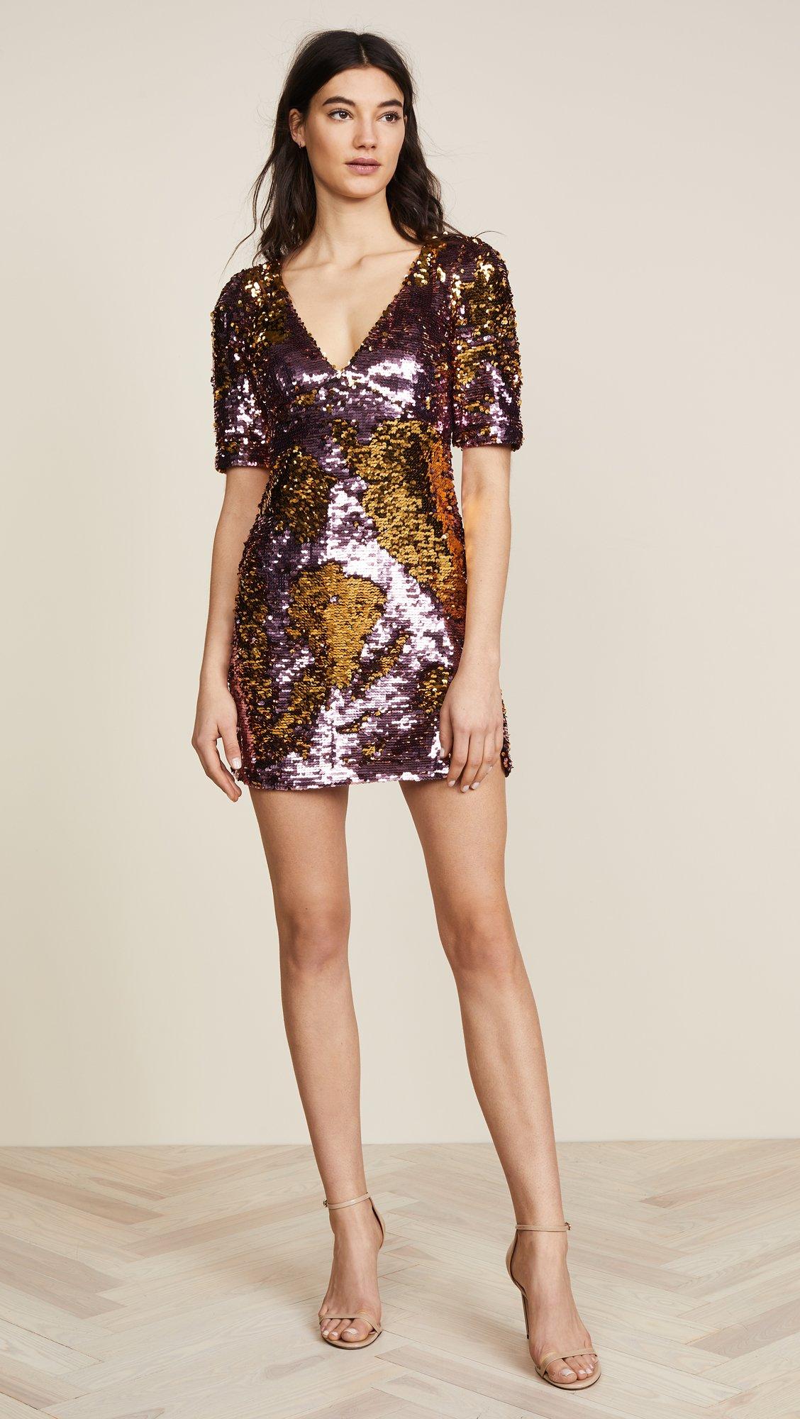 For Love & Lemons Women's Sparklers Party Dress, Dusty Rose, Medium by For Love & Lemons (Image #5)