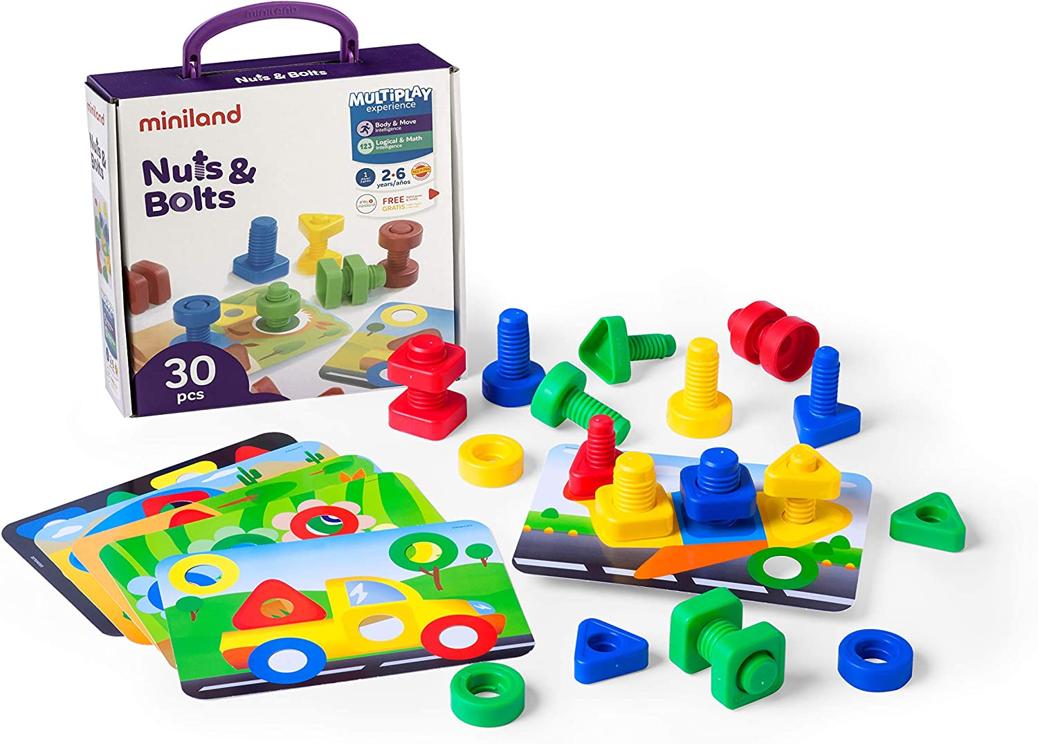 Miniland Nuts /& Bolts Learning Playset
