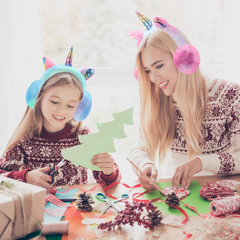 Unicorn Winter Earmuffs Cartoon Ear Plush Fluffy Warm Foldable Soft Warmers
