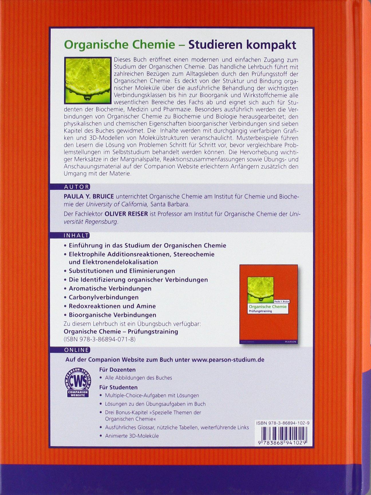 Organische Chemie Studieren Kompakt Pearson Studium