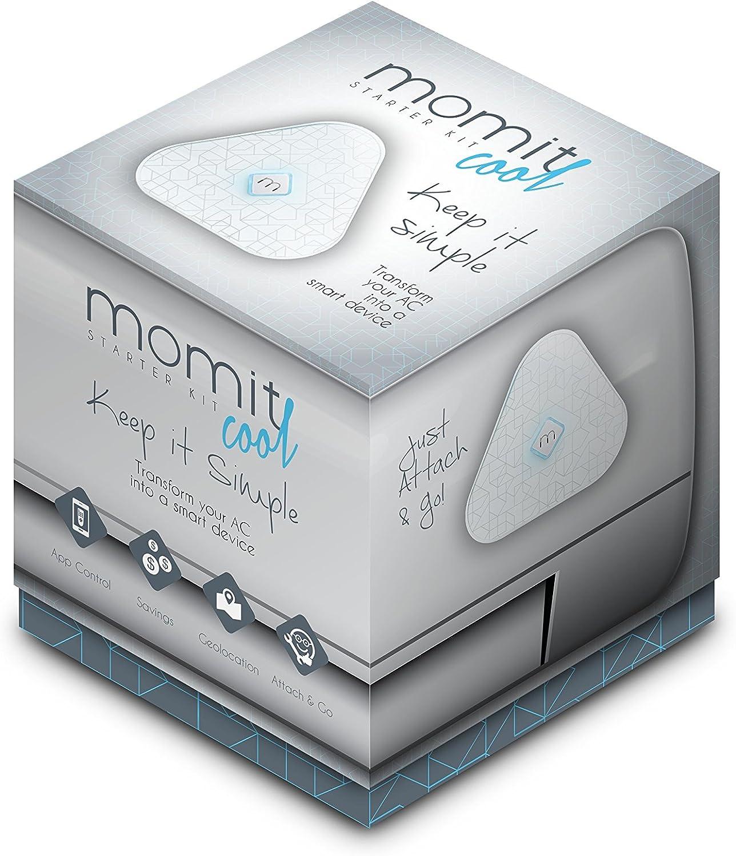 Momit Cool SKCOOLEU - Kit de inicio (Termostato + Gateway), Control del aire acondicionado con Smartphone, Compatible con A/C de mando a distanciam, Blanco: Amazon.es: Bricolaje y herramientas