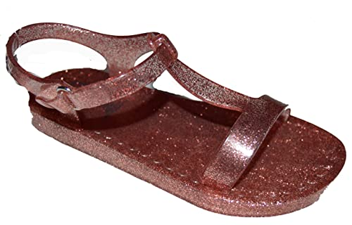 1ebf0b4cddfc Image Unavailable. Image not available for. Color  BabyGap Toddler Girls Pink  Rose Gold Glitter T-Strap Jelly Sandals 6