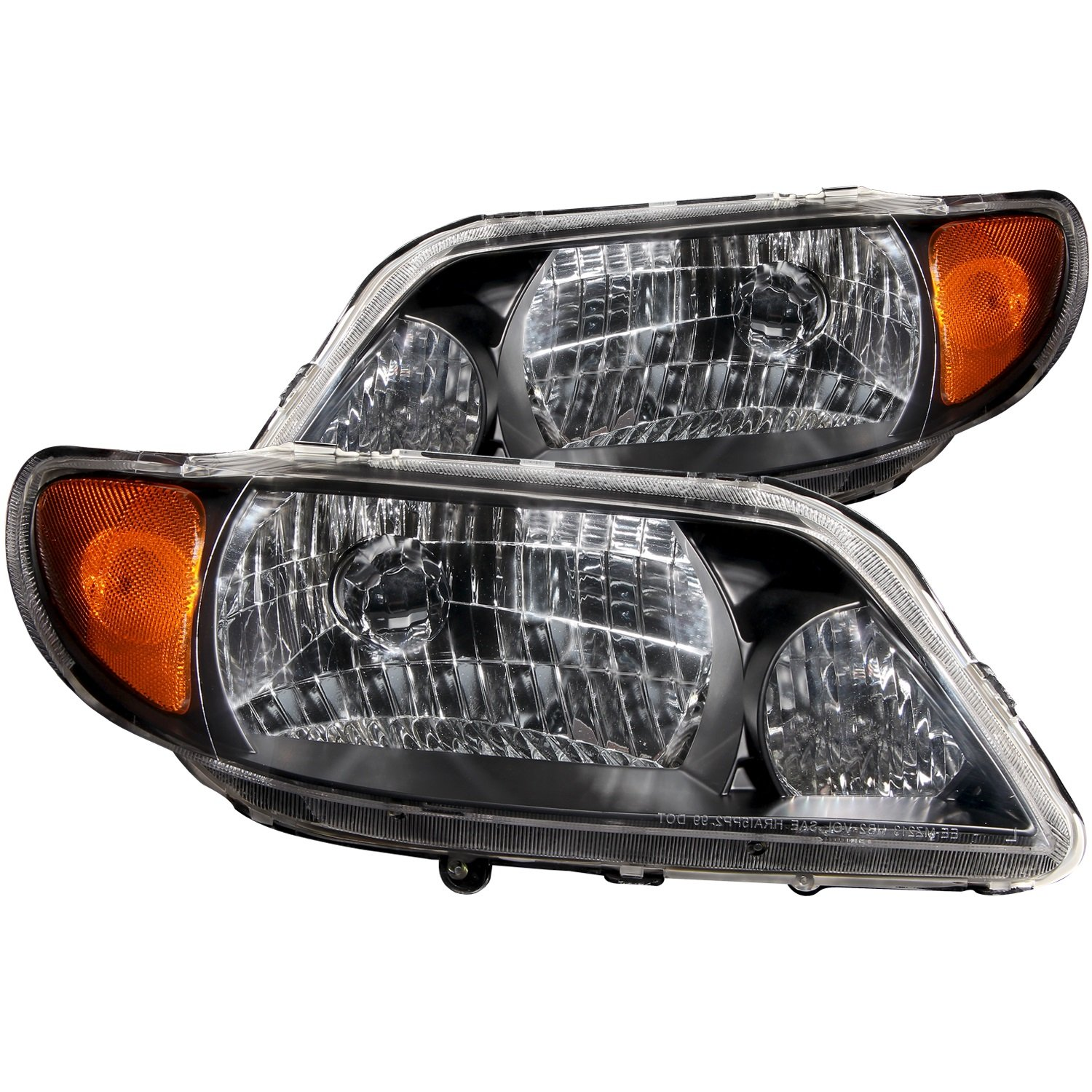 Anzo USA 121107 Mazda Protege Crystal Black Headlight Assembly Sold in Pairs