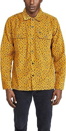 Obey - Camisa para Hombre con Botones y diseño de Leopardo - Amarillo - Medium: Amazon.es: Ropa y accesorios