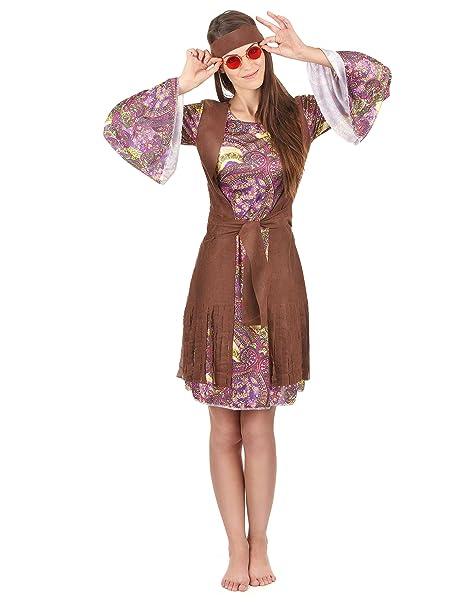 Costume hippie - figlia dei fiori per donna M   L  Amazon.it  Giochi ... fb2ab7babd1