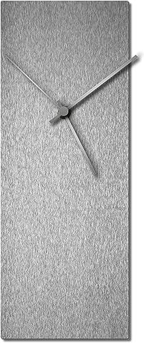Modern Wall Clock 'Silversmith Clock Large Silver' Mid-Century Silver Home/Kitchen Decor