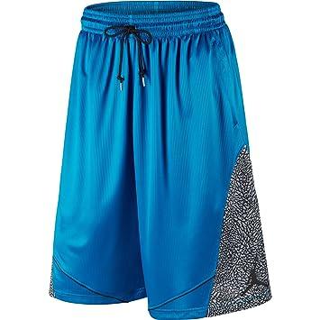 Jordan Fly Elefant Herren Basketball-Shorts Blau Schwarz 589346–432, Herren, c2da86bb53