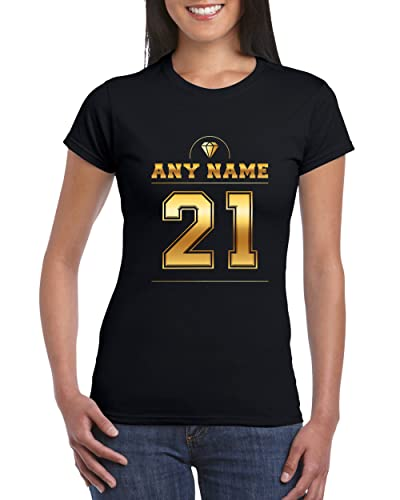 Number 21 T Shirt For Women With Name