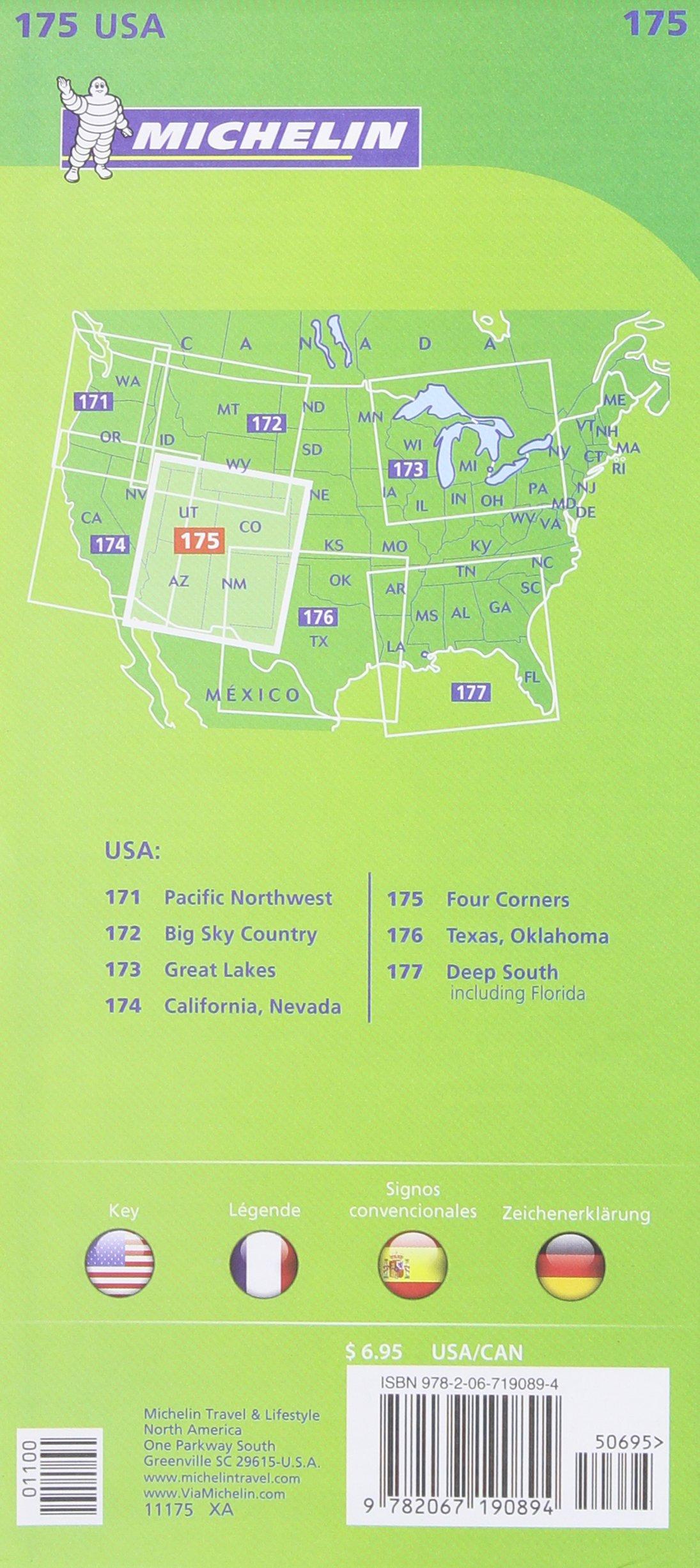 Michelin USA Four Corners Map 175 (Michelin Zoom USA Maps): Michelin on 4 corners region, 4 corners states, 4 corners map with counties, 4 corners map western us, 4 corners utah-colorado, 4 corners logo, 4 corners colorado map, 4 corners us a platform, 4 corners national parks map,