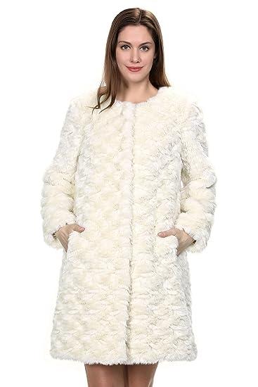 Cappotto di pelliccia Adelaqueen per donna 4cc1938f5a3