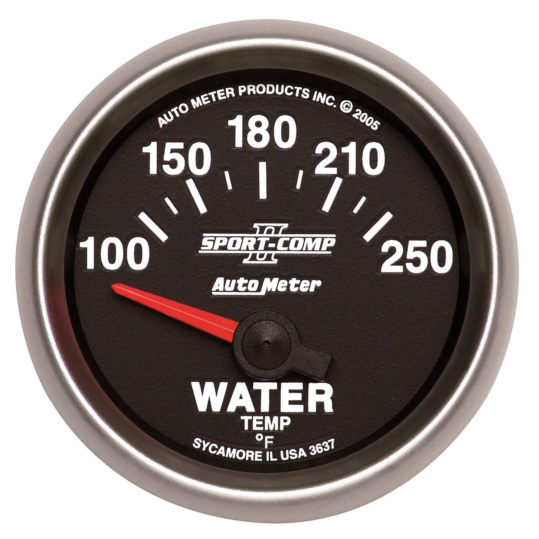 Auto Meter 3637 Sport Comp II Electric Water Temperature gauge by AUTO METER