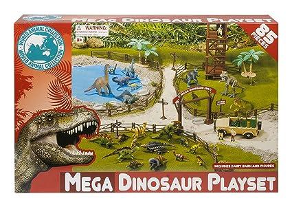 Amazon.com: Mundo Animales dinosaurio Playset Figura de ...
