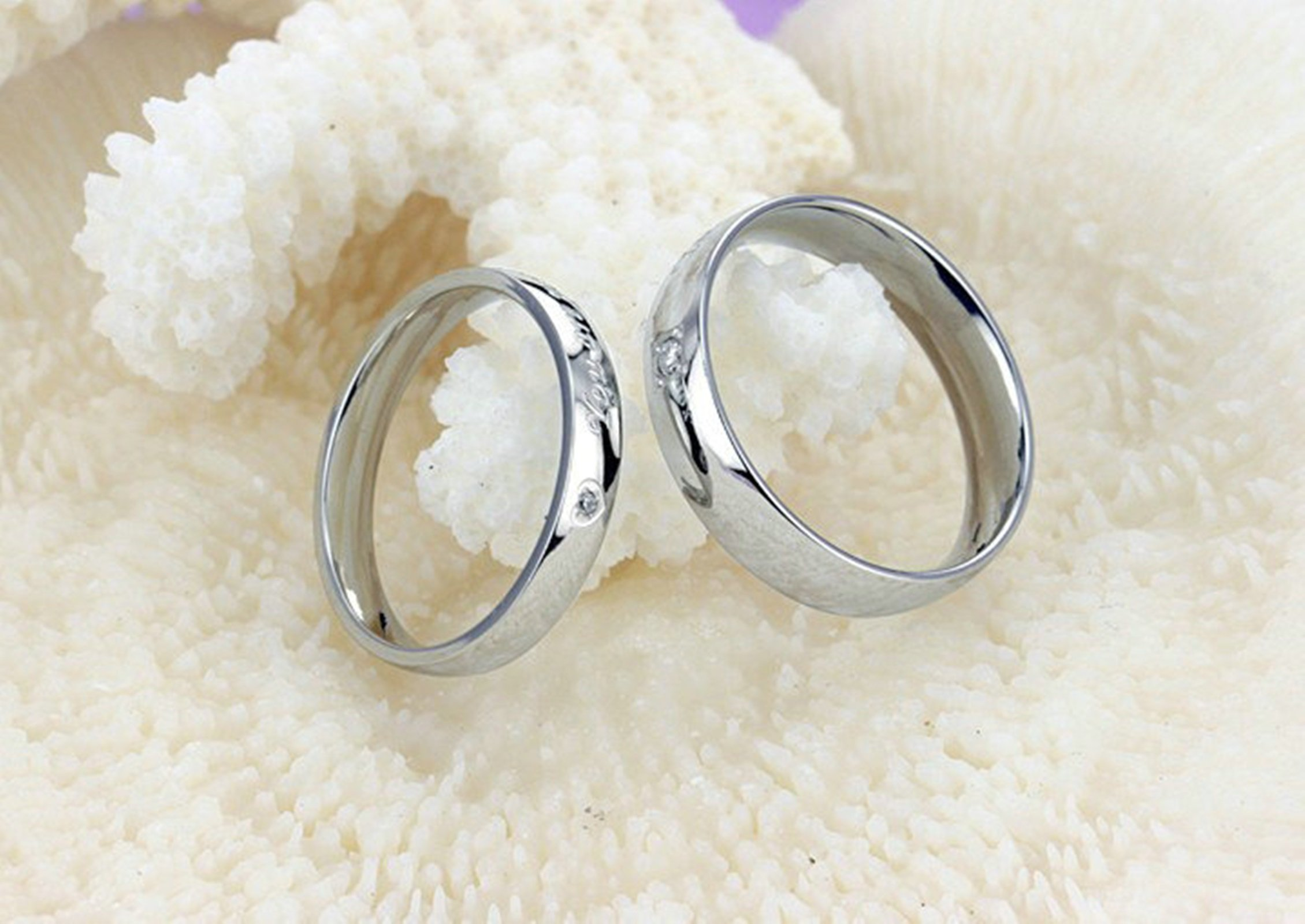 Beydodo 1PCS Stainless Steel Ring 7 Engraving You Are Perfect In My Heart Width Wedding Rings Mens by Beydodo (Image #5)