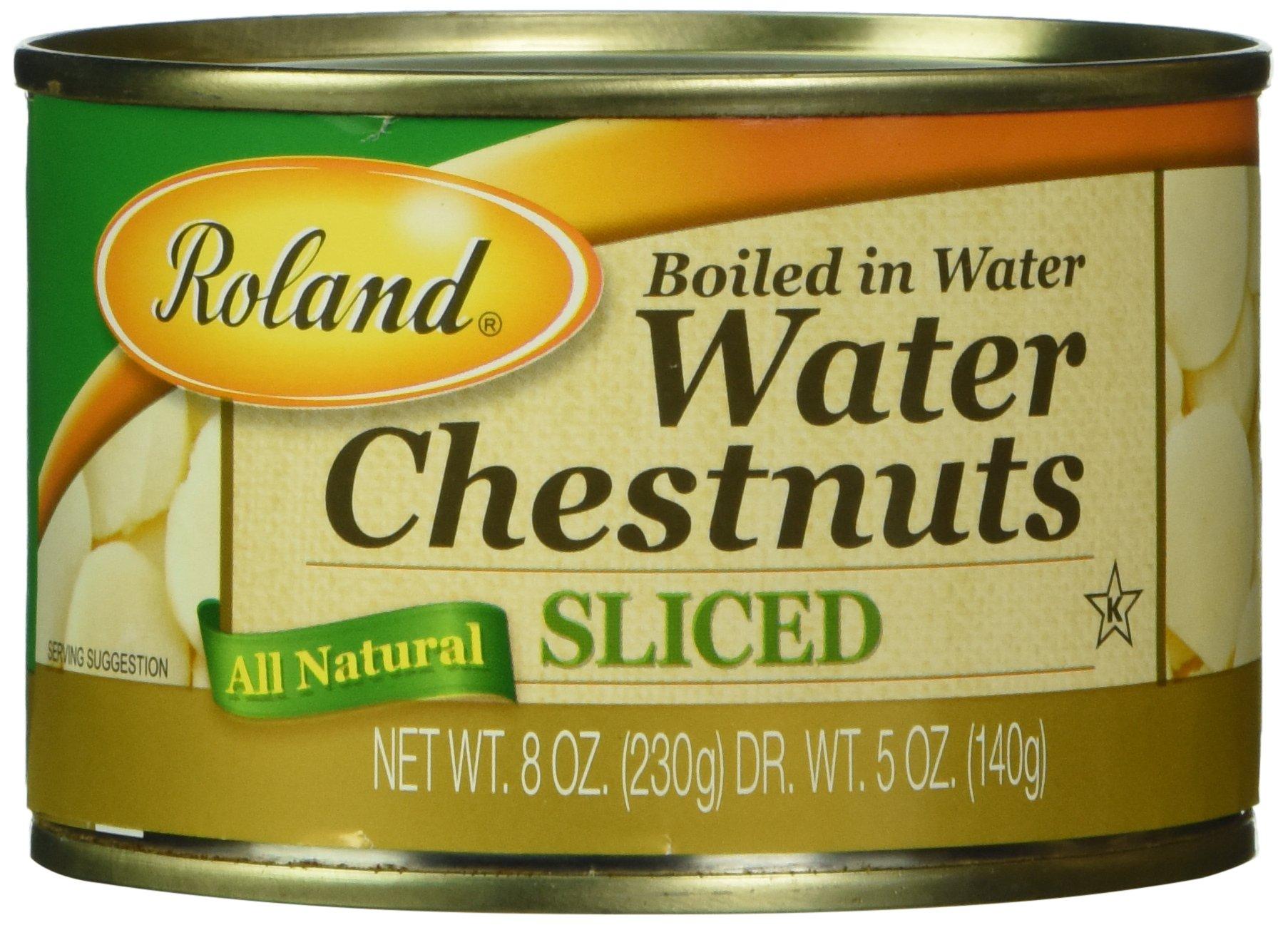 Roland Water Chestnuts, Sliced, 8 oz
