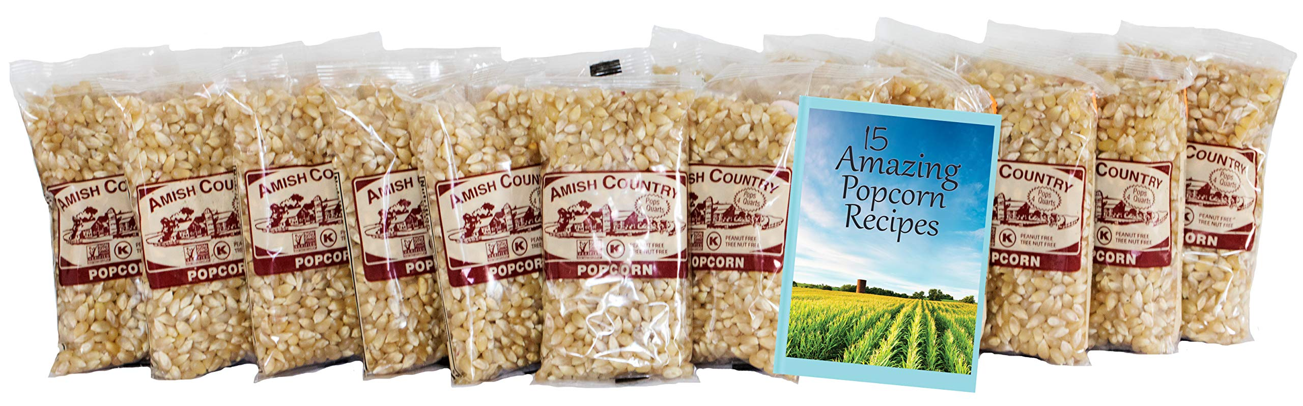Amish Country Popcorn - Old Fashioned Baby White - (4 Ounce - 24 Bags) - Small & Tender Popcorn - With Recipe Guide by Amish Country Popcorn (Image #2)