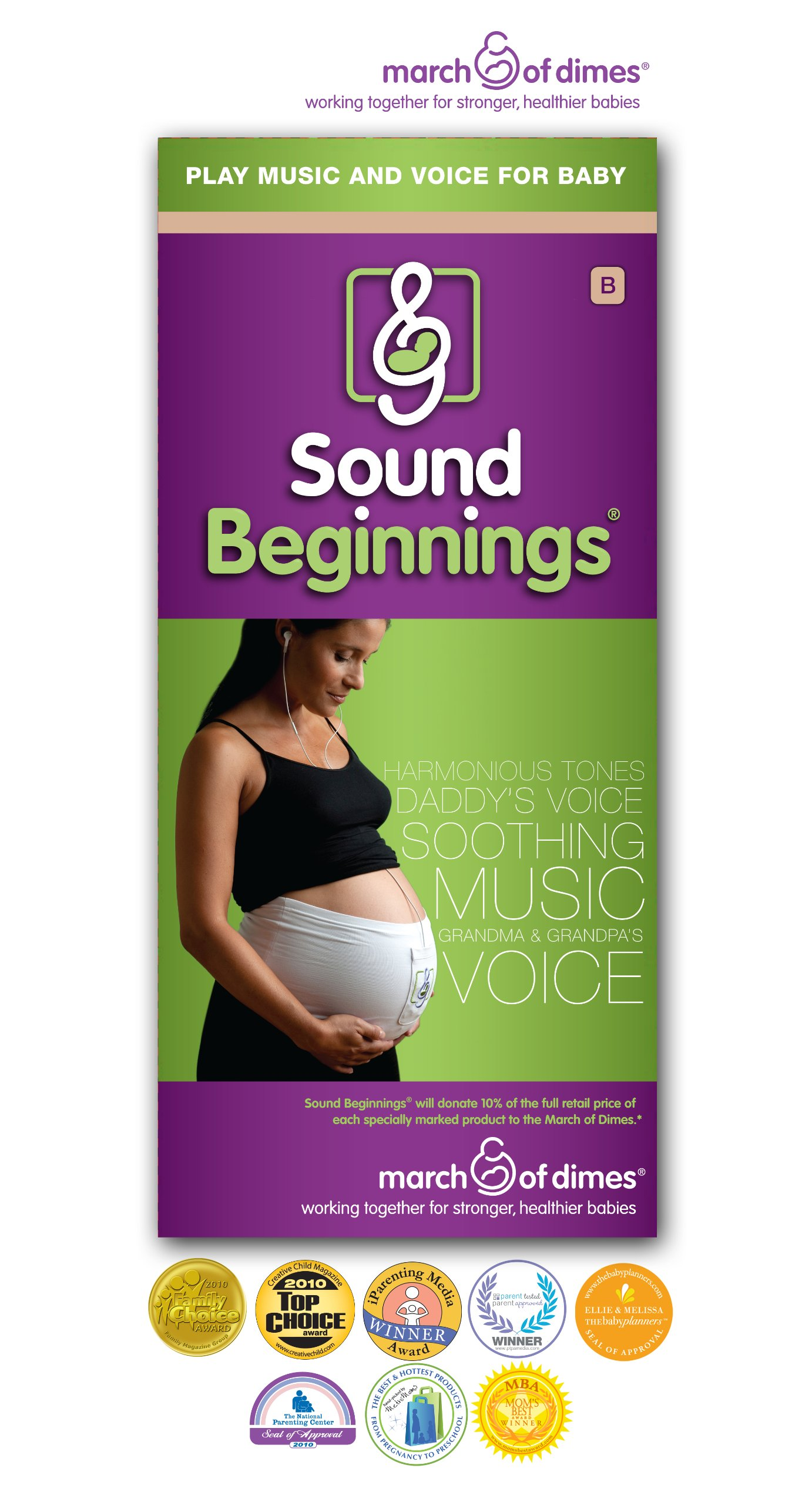 Sound Beginnings Pregnancy Music Belly Band, Nude, Medium by Sound Beginnings (Image #5)