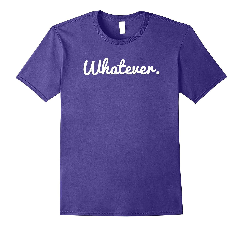 Whatever Care Free Slogan T-Shirt-Vaci