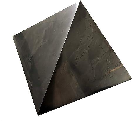 Pietra curativa SCHUNGIT HEILSTEIN Piramide Schungite Grande Piramide della Giungla 10 x 10 cm