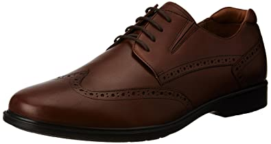 Hush Puppies Men's Hartley Workday Tan Light and Brown Leather Formal Shoes  - 10 UK/
