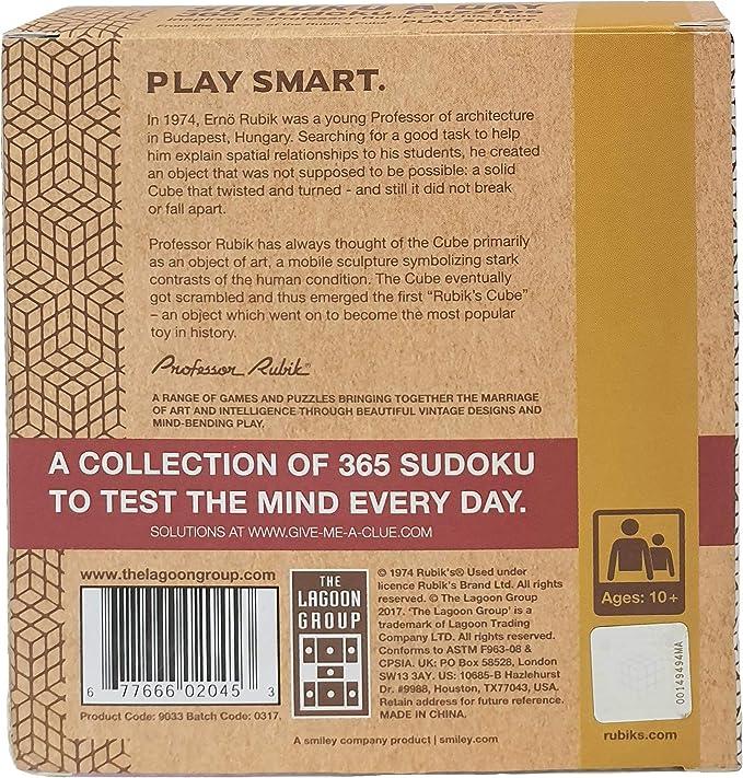 Rubik Sudoku and Crossword a Day Deskblock Set of 2