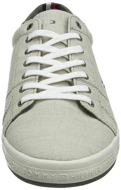 ad33b8be255a Tommy Hilfiger Men s Essential Pique Denim Sneaker Low-Top  Amazon.co.uk   Shoes   Bags