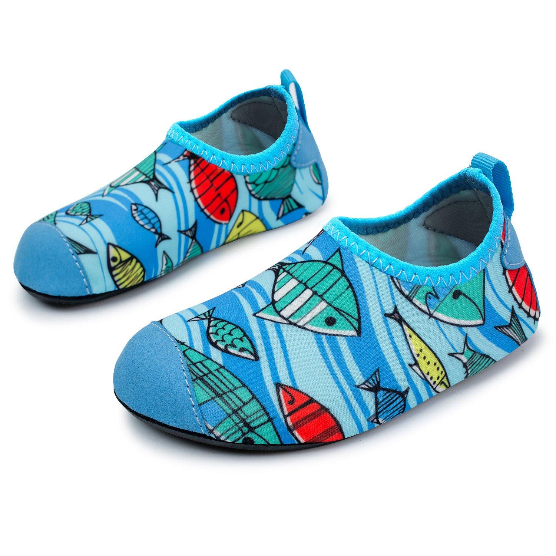 L-RUN Children's Swim Water Shoes Barefoot Aqua Socks for Beach Pool Surfing Yoga L-RUN-ECT-new