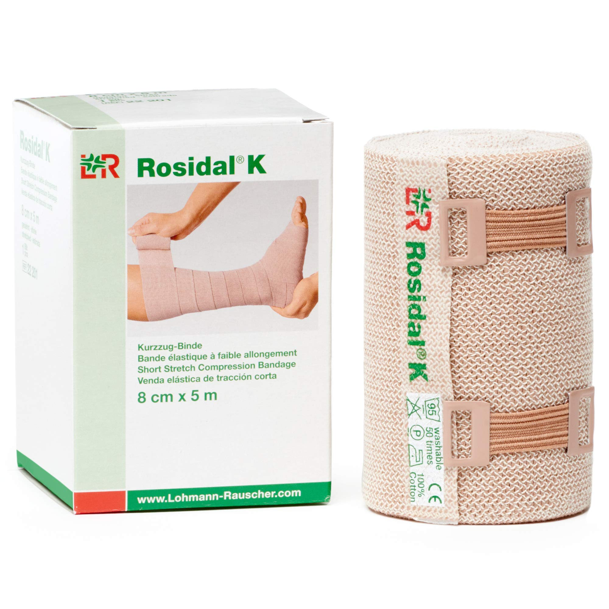 Rosidal K 8cm x 5m Short Stretch Bandage 4 Each by Lohamnn Rauscher
