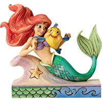 Disney Tradition Ariel with Flounder 小雕像