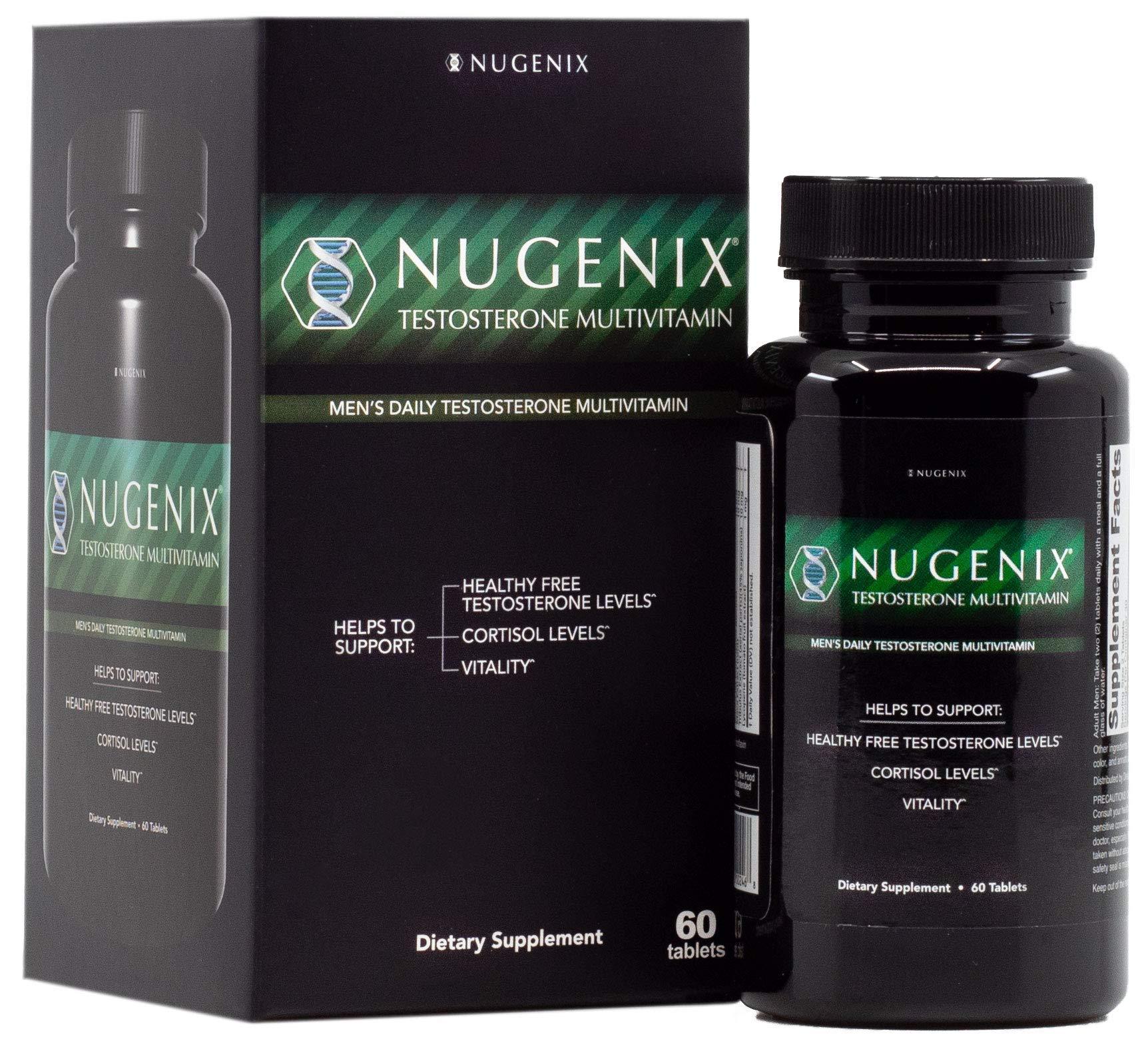 Nugenix Men's Daily Testosterone Multivitamin - 19 Vitamins and Minerals, Supports Free Testosterone