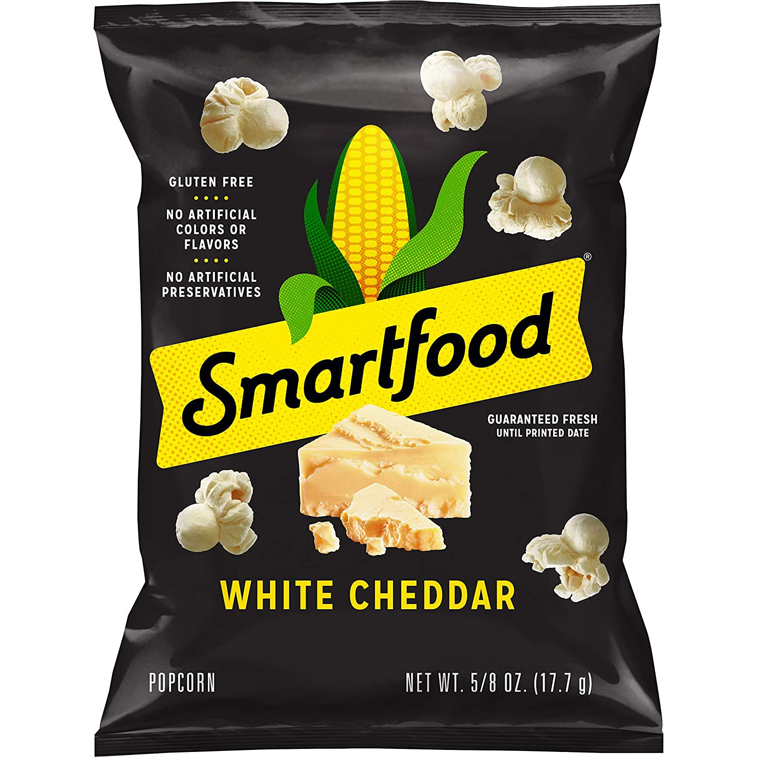 Smartfood White Cheddar Flavored Popcorn, 0.625 Ounce (Pack of 40) (Packaging May Vary)
