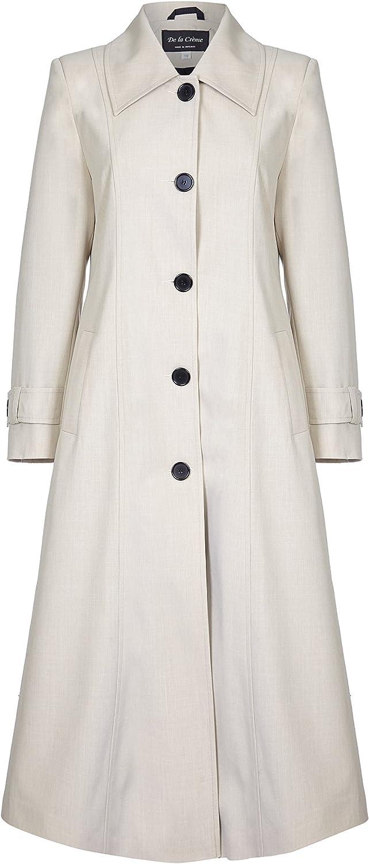 De La Creme Womens Spring Long Raincoat Coat