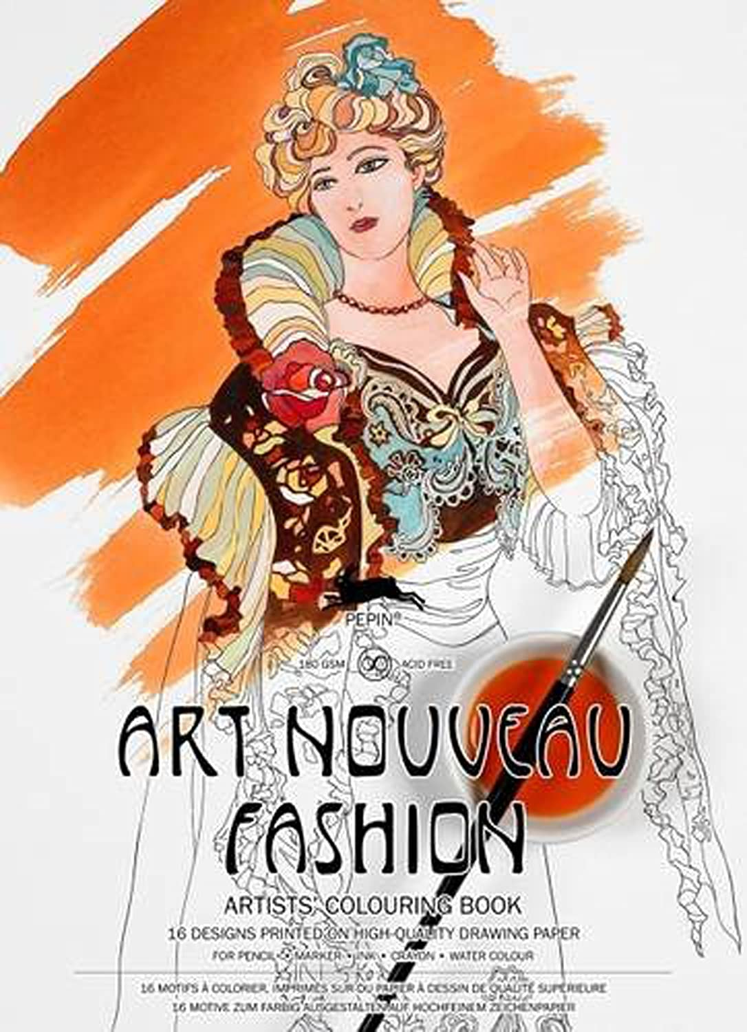 outlet Libro Artistas Colorear PEPIN ART NOUVEAU FASHION 16 Diseños ...