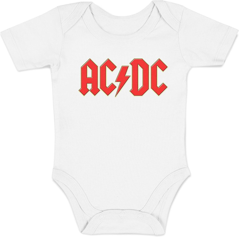 LaMAGLIERIA Baby Body ACDC 3D Logo Body 100/% Cotone Neonato