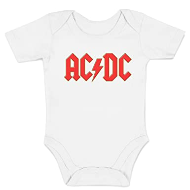 100/% Baumwolle Body LaMAGLIERIA Jersey Body f/är Babys ACDC 3D Logo