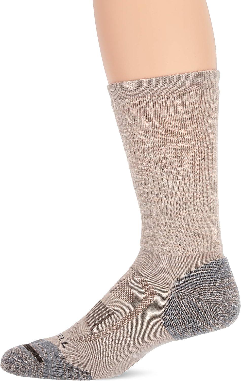 Merrell mens 1 Pack Zoned Crew Hiker Socks