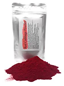 Red Cabbage Powder | Water Soluble Food Dye | Net weight: 1.76oz/50g - Amazing in the Kitchen or for Cocktails! Makes Color-changing Beverages and Dishes in Red Or Magenta, Pink, Purple, Blue