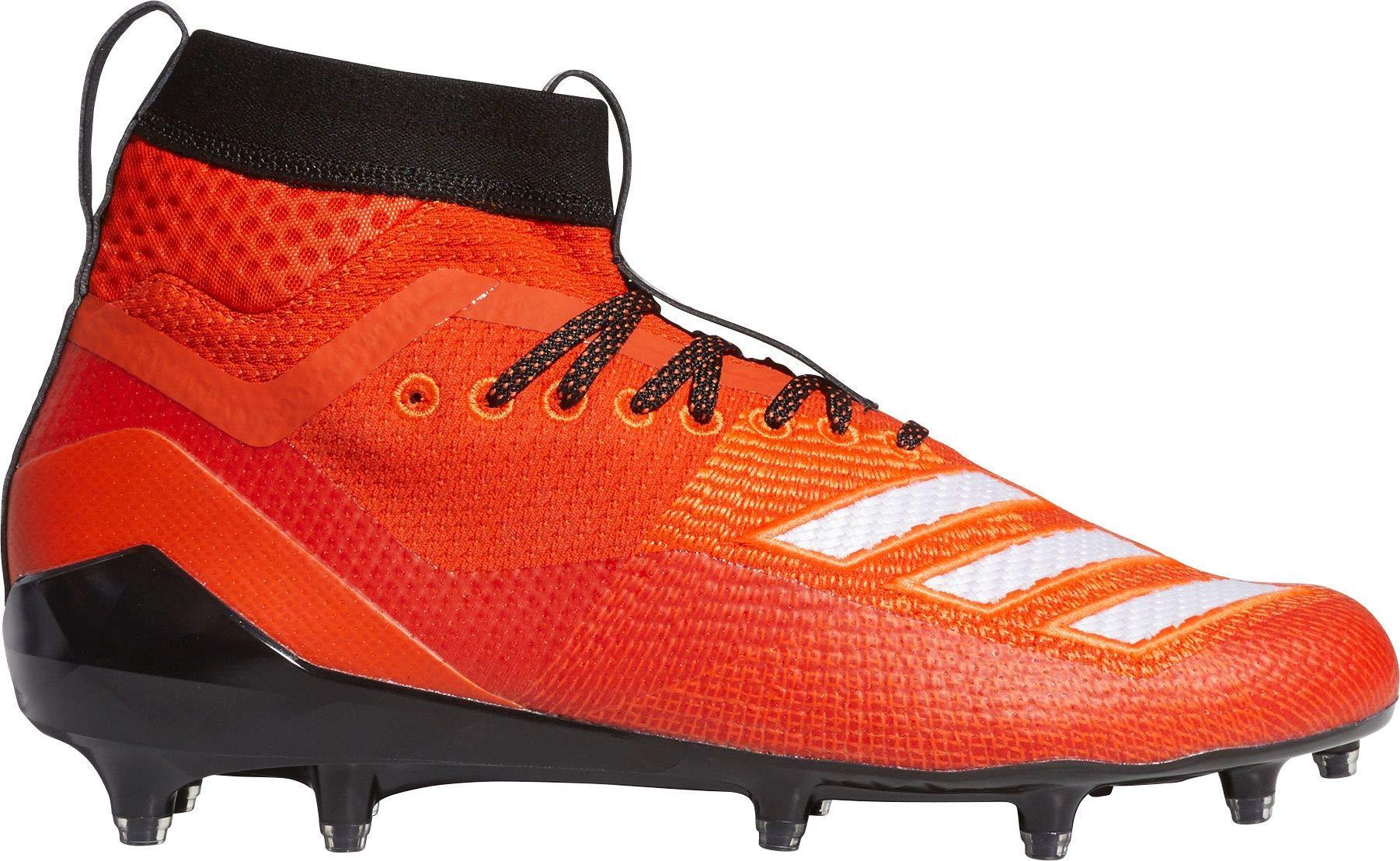 adidas Men's Adizero 8.0 SK Football Shoe Collegiate Orange/White/Black 6.5 M US