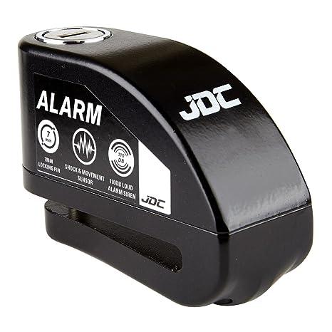 JDC Moto Motocicleta Bloqueo de Disco con Alarma – Jaws - Negro