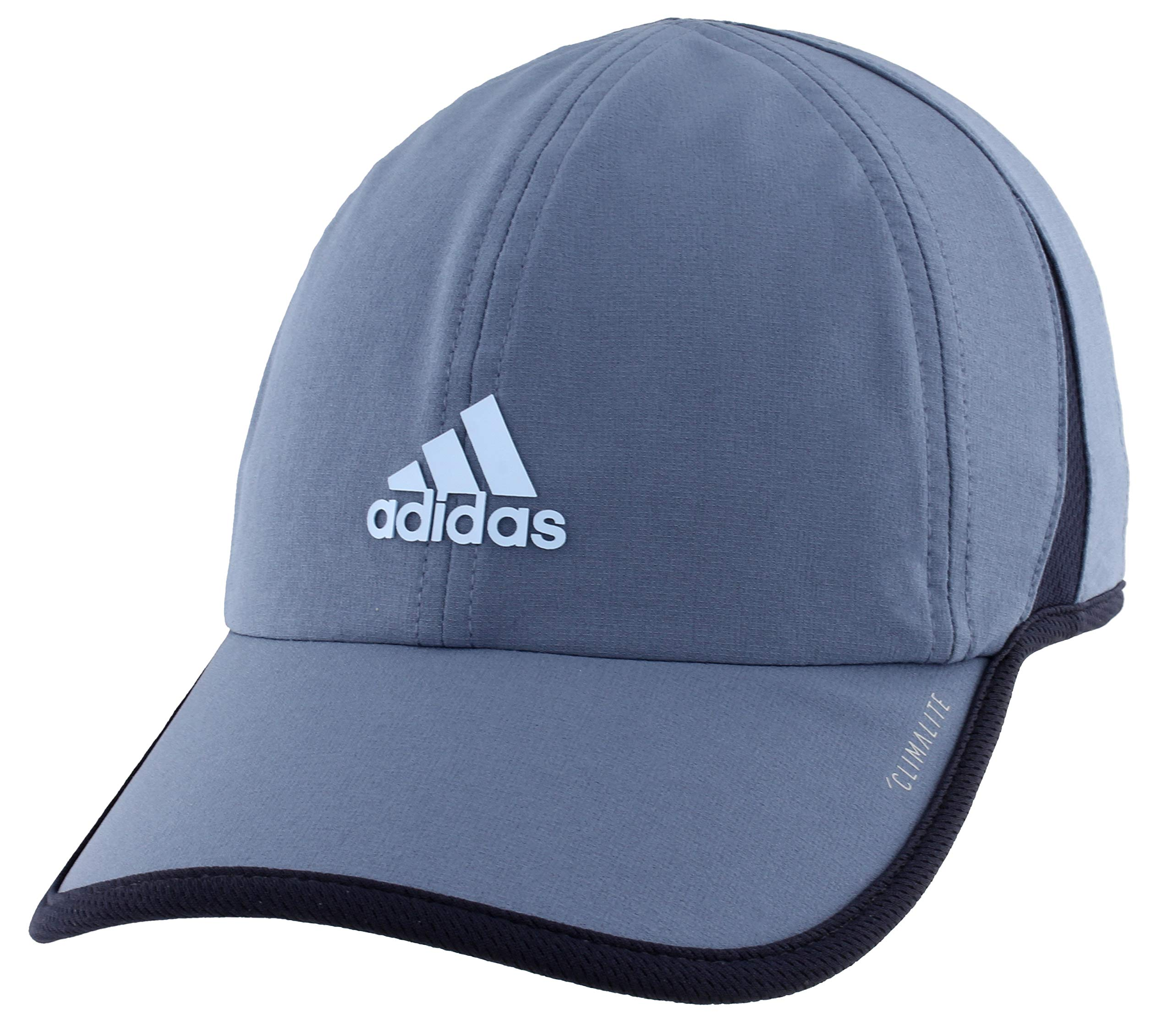 adidas Superlite Relaxed Adjustable Performance Cap, Tech Ink Grey/Legend Ink Blue/Glow Blue, One Size
