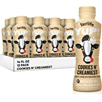Fairlife fairlife YUP! Low Fat Ultra-Filtered Milk, Cookies & Creamiest, 12 Count, 14 Fl Oz (Pack of 12)