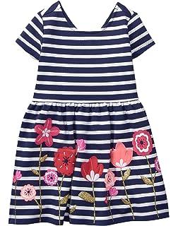 eb55b0a43 Amazon.com  Gymboree Toddler Girls  Pink Striped French Terry Dress ...