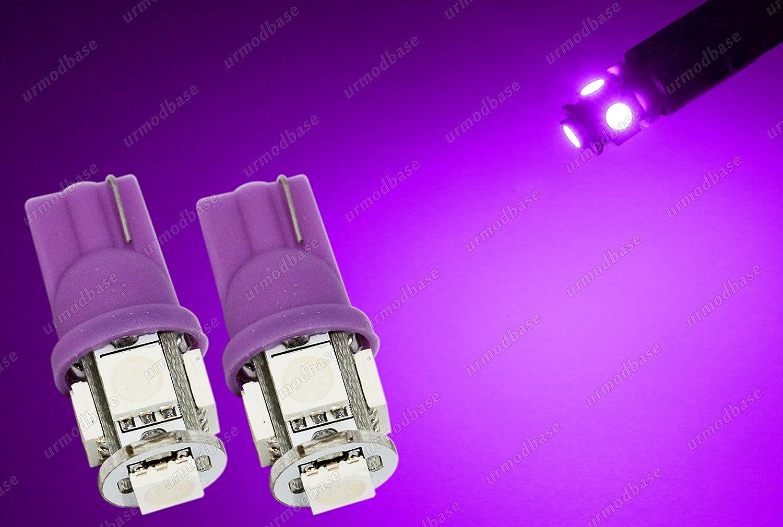 urmodbase W5W 501 194 Wedge Capless LED SMD Sidelights Parking Marker Lights License Number Plate Lamps Bulbs 12V