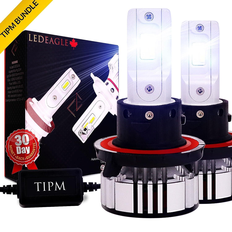 H7 Car LED Headlight Bulbs CREE 12000lm +400% More Light - LED EAGLE Auto LED Light Conversion Kit 12v Replace for Car Halogen or HID Bulbs, Cool White 6500K, 2 Pack LED EAGLE HEADLIGHT FACTORY LTD