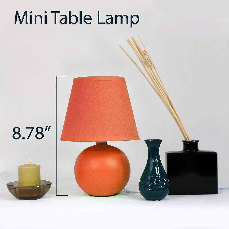Contemporary orange table lamps - Simple Designs Lt2008 Org Mini Ceramic Globe Table Lamp Orange Amazon Com